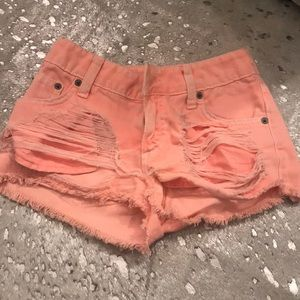 Carmar denim shorts orange size 24 altered 23